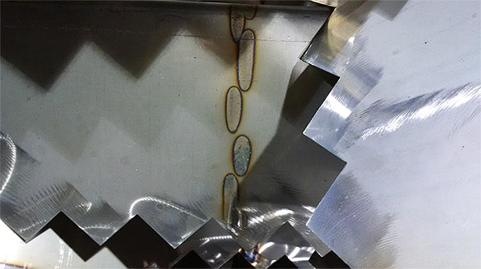 Passivation of Stainless Steel (Before - Note Welding Marks)